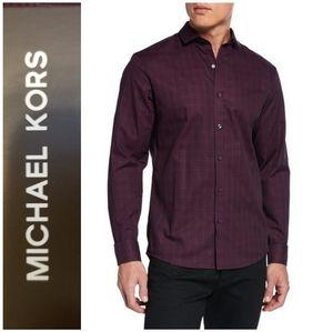 Michael Kors Men's Chaney Slim Plaid Sport Shirt
